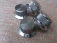 Silver And Black Diameter 50mm Shank Diameter 40mm Height 25mm Solid All Aluminum Volume Knob Audio