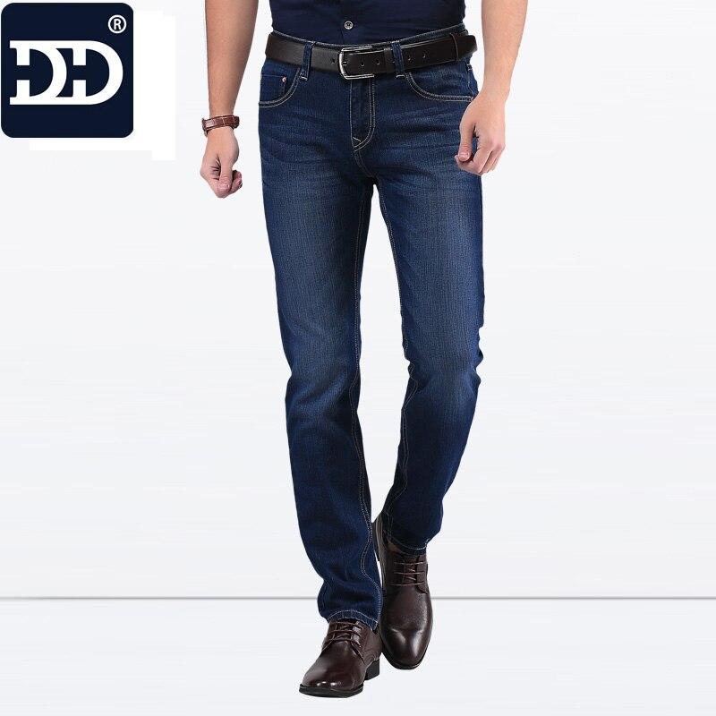 2016 известный бренд завода кожа молния Для мужчин Джинсы для женщин 2016 Deep Blue Slim Прямые джинсы Для мужчин Брюки для девочек masculina vaqueros Для мужчин