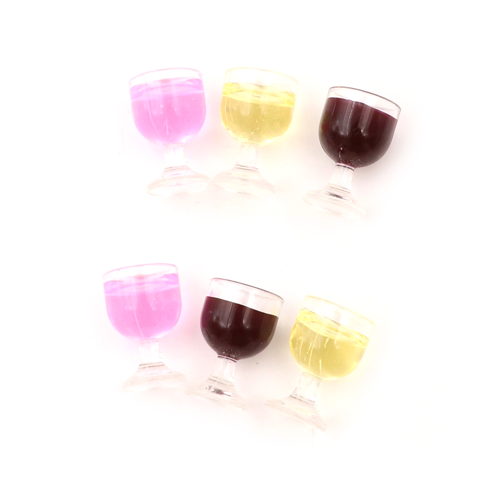 10pcs Miniature Wine Glasses Goblet Model for 1//12 Scale Dolls House Accessories