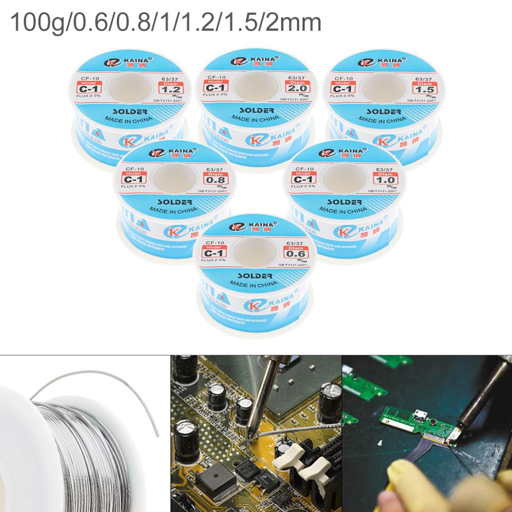 63/37 100g 0.8mm 0.6mm-2.0mm High Purity No-clean Rosin Core Solder Tin Wire Reel With 2% Flux And Low Melting Point