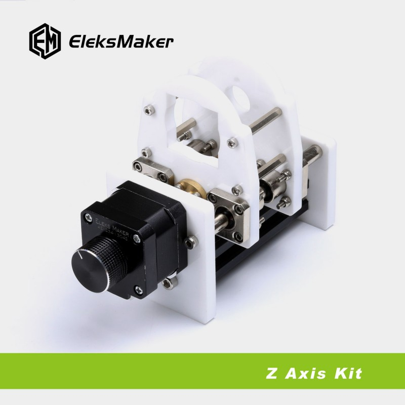 EleksZAxis Adjustable Z Axis Laser Module Motor Holder DIY Kit for A3 Laser Engraver the rail of laser machine 1490 include belt bear wheel motor motor holder mirror holder tube holder laser head etc