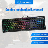 104 Keys ABS Keycap Red Cherry MX Wired Backlit RGB Mechanical Gamer Keyboard HGK104
