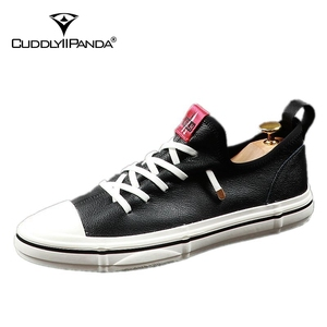 Image 5 - CuddlyIIPanda Men Fashion Casual Shoes Youth Trending Genuine Leather Breathable Leisure Street Shoes Male Luxury Designer Shoes