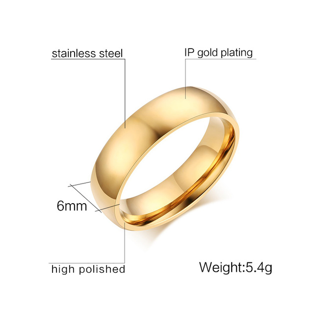 Meaeguet 6mm Simple Classic Wedding Rings Silver Color Stainless Steel Engagement Rings For Men Women Jewelry Wedding Bands