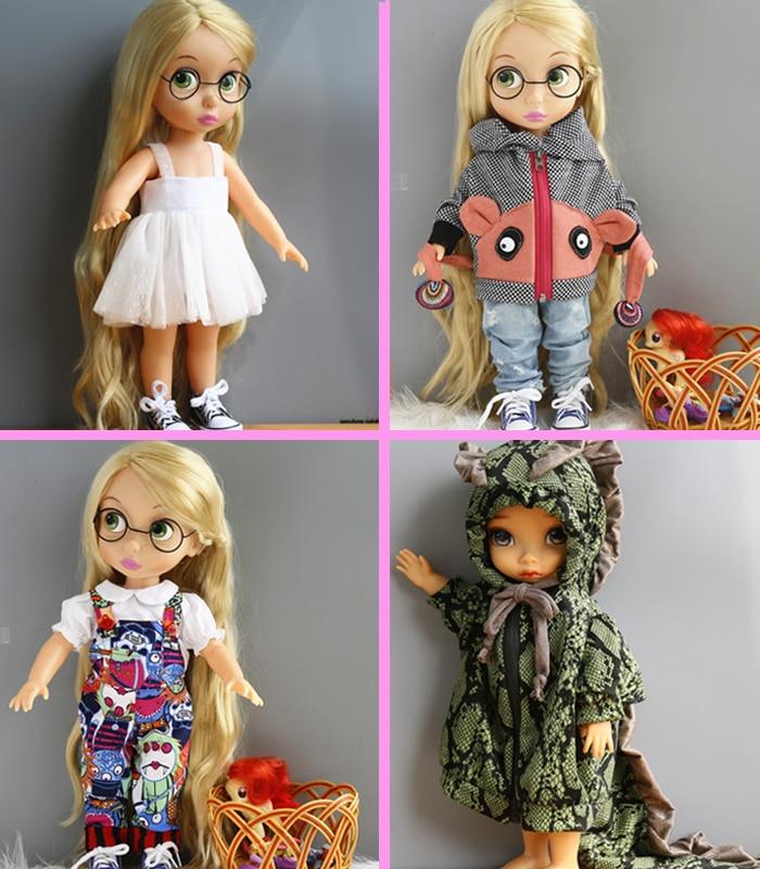 BJD/SD Doll Accessories Skirt Set dresses ofia  princess Anna Elsa for 40cm Salon Doll clothes for girls gift 1 4 1 3 sd17 uncle bjd sd doll accessories bjd clothes black t shirt