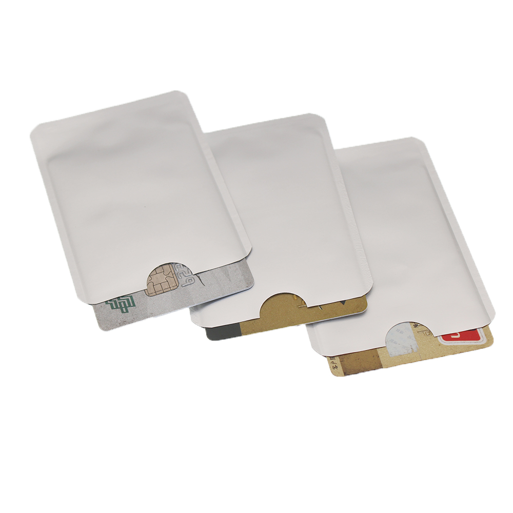 100pcs/lot RFID Shielded Sleeve Card Blocking 13.56mhz IC Card Protection NFC Security Card Prevent Unauthorized Scanning