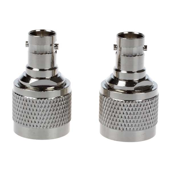 2015 Hot Hot Sale 2 Pcs Silver N Male Crimp to BNC Female RF Coaxial Cable Adapter bnc male connector tee t shaped head 2 female adapter silver 2 pcs