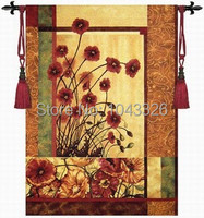 135*85cm The charm of poppy home textile landscape pictures decoration aubusson wall hanging tapestry jacquard fabric