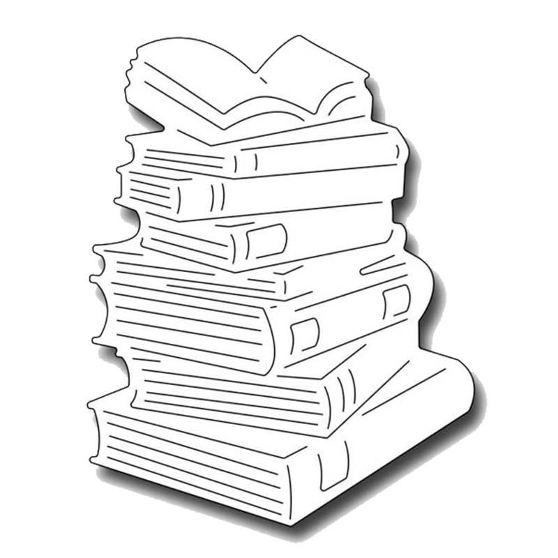 Swovo Book pile Metal Cutting Dies Scrapbooking Photo