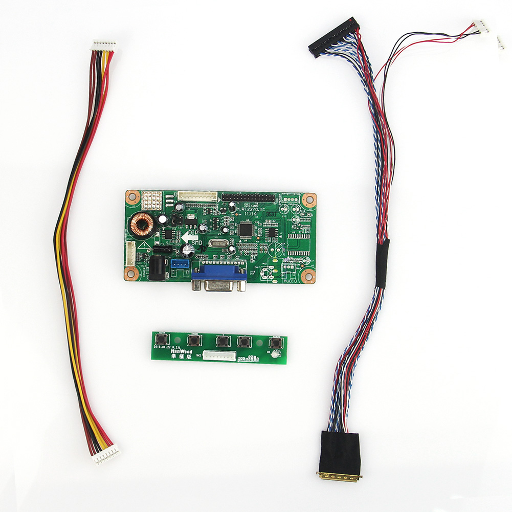 M.RT2270 LCD/LED Controller Driver Board(VGA) LVDS Monitor Reuse Laptop 1024x600 For B101AW06 V.1 N101L6-L01