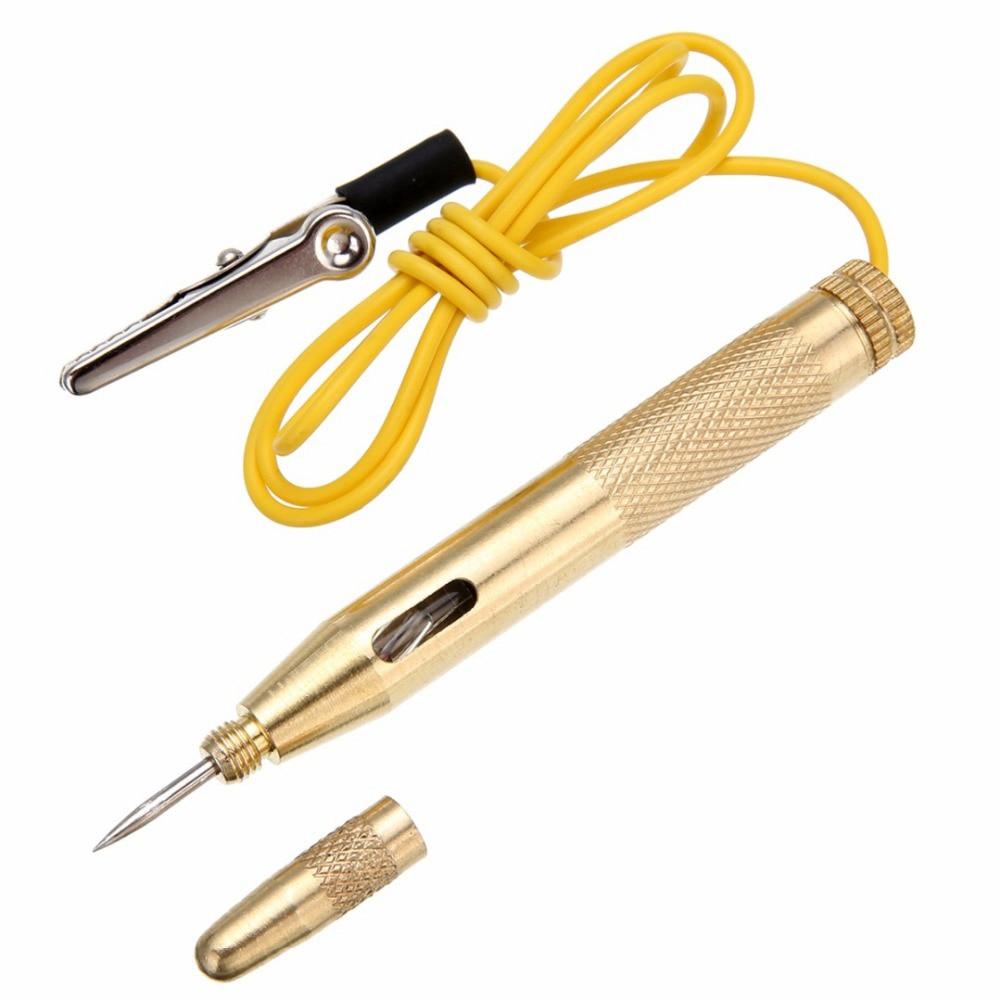 Диагностические инструменты, медный автомобильный тестер цепи освесветильник, постоянный ток, 6 в, 12 В, 24 В, тестер напряжения лампы, ручка-де...