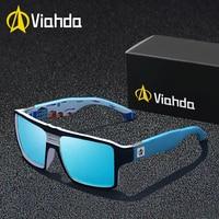 Viahda new Polarized Sunglasses Men Driving Shades Male Sun Glasses For Men's Retro Luxury Brand Designer