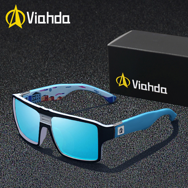 Viahda new Polarized Sunglasses Men Driving Shades Male Sun Glasses For Men's Retro Luxury Brand Designer