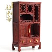 Mahogany furniture model red rosewood miniature furniture a miniature furniture wooden cabinet antique ornaments