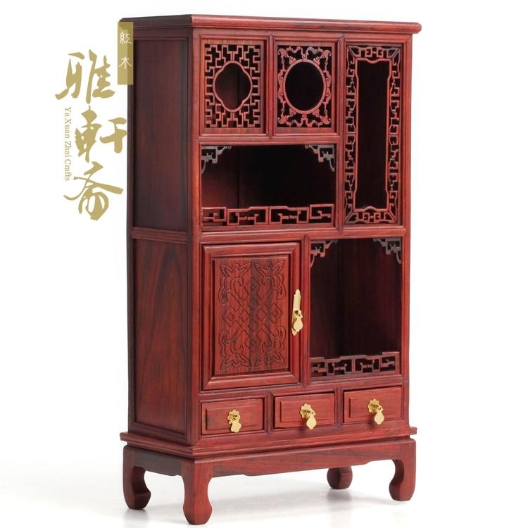 Modèle de meuble en acajou meuble miniature en palissandre rouge meuble miniature meuble en bois ornements anciens