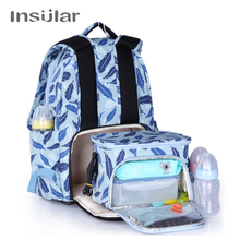 INSULAR Mother Bag Baby Nappy Large Capacity Maternity Mummy Diaper Backpack with Thermal Insulation Stroller