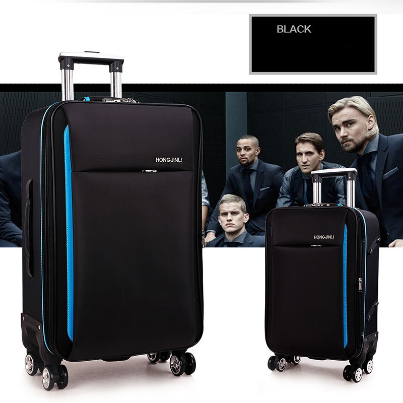 Letrend Oxford Rolling Luggage Spinner Men Password Travel Bag Women Suitcases Wheel Trolley Business Carry On Trunk