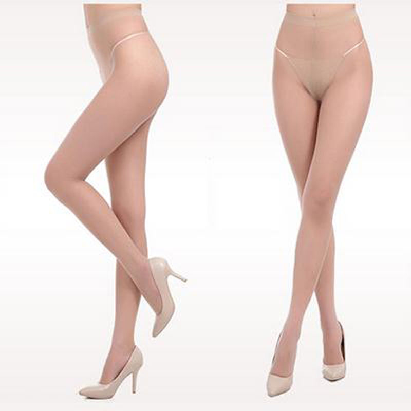 Fashion Women T File Seamless Stockings Sexy Transparent Thigh High Tights Pantyhose Medias  4 Color