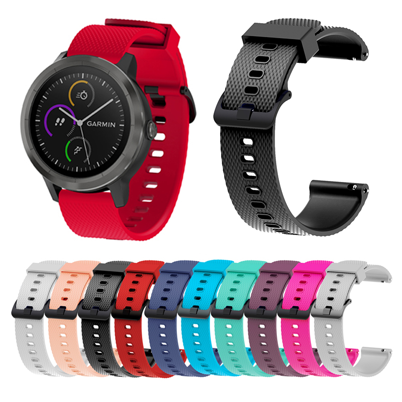 20MM Universal Strap For Garmin Vivoactive 3 Ticwatch 2 Silicone Watch Straps For Samsung Gear Sport S2 Classic Watchband + Tool