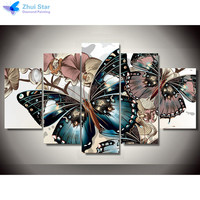 Zhui Star 5d Diy Diamond Embroidery Colorful Butterfly Diamond Painting Cross Stitch Full Drill Rhinestone Mosaic