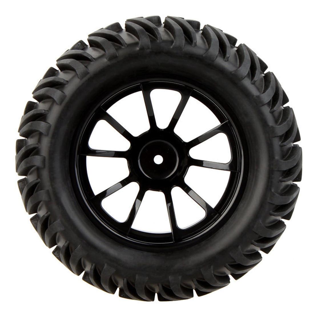 4Pcs 1/10 Monster Truck Wheel Rim and Tire 8010 fr Traxxas HSP Tamiya HPI RC Car