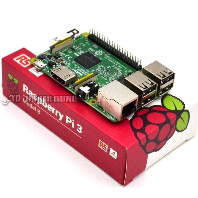 2016 Nova Original Placa Raspberry Pi 3 Modelo B 1 GB LPDDR2 BCM2837 Quad-Core Ras PI3 B, Ras PI 3B, Ras PI 3 B com WiFi & Bluetooth