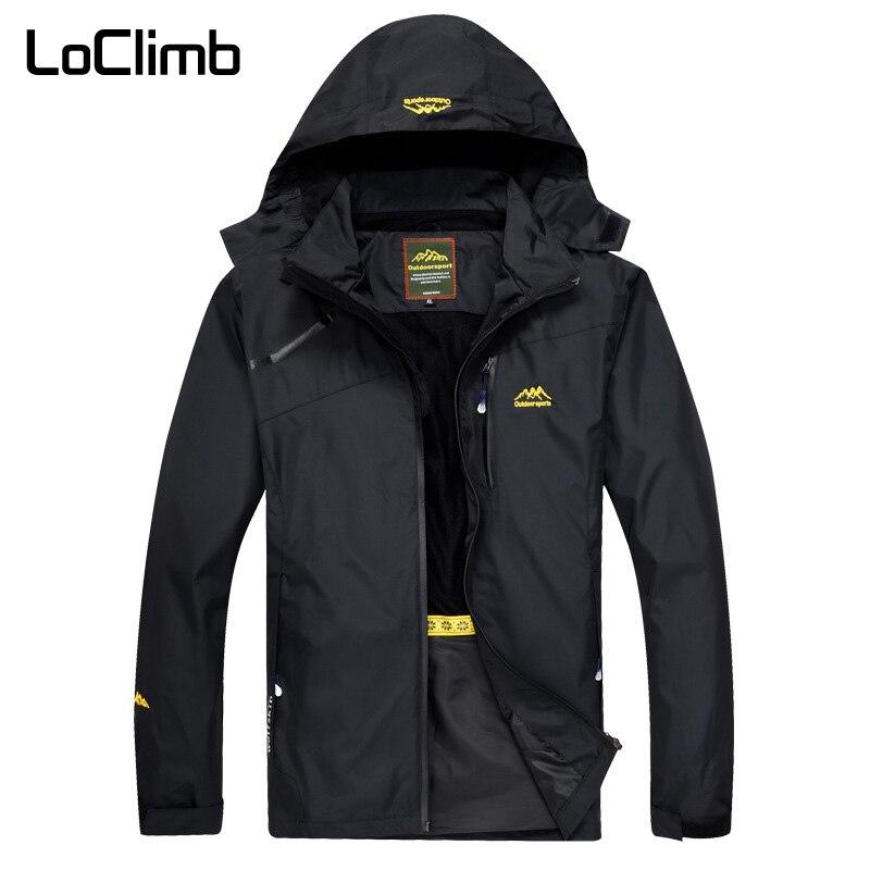 LoClimb herren Outdoor Wandern Jacke Männer Frühling Sport Regen Mantel Klettern Trekking Windjacke Angeln Wasserdichte Jacken AM255