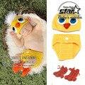 Diseño precioso Pato Bebé Niños Niñas Infantiles de Punto Sombrero Del Pato Del Bebé Pañal Set Crochet Bebe Animal Costume 1 Unidades Cosplay
