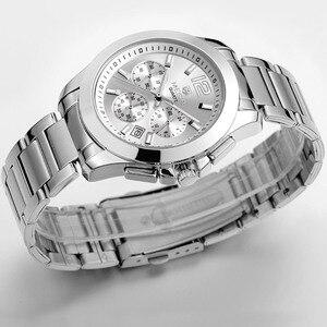 Image 4 - MEGIR 女性の恋人腕時計トップの高級ブランド女性クロノグラフ時計エレガントな古典的な女性時計ガールクォーツ腕時計新 5006