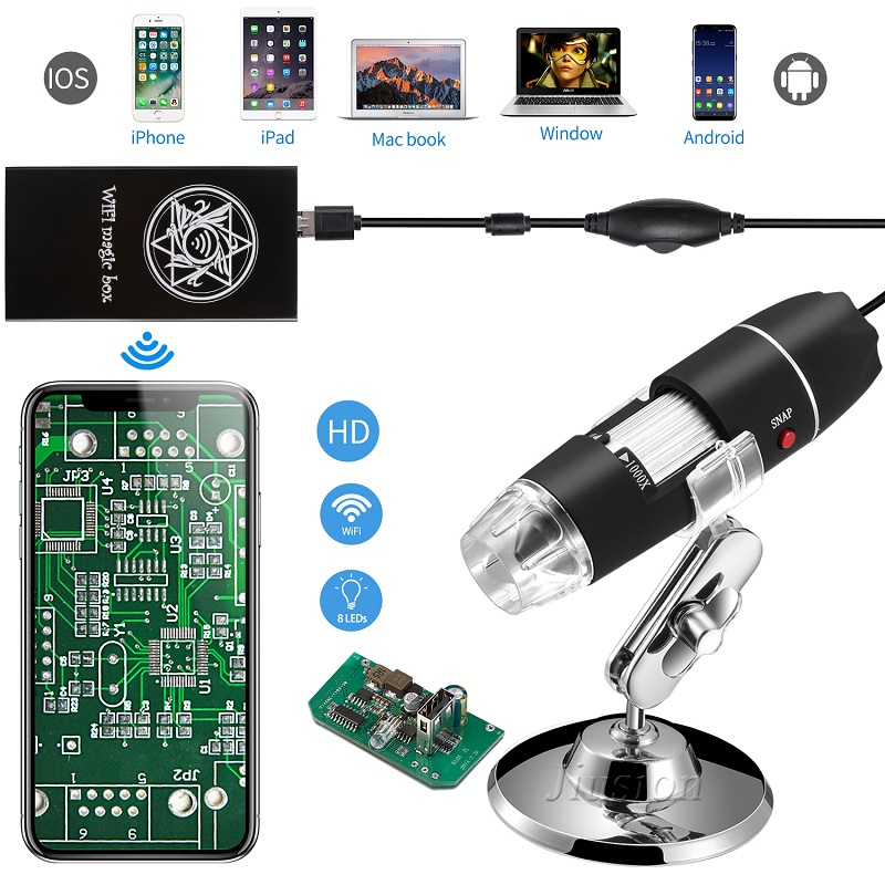 40-1000X USB Digital Mini Fotocamera Microscopio LED Handheld Capretto Studente Endoscopio Ingrandimento per iPhone Android Windows Mac
