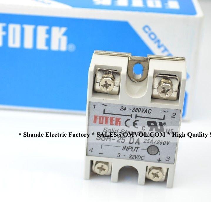 25A на самом деле! FOTEK SSR-25DA производитель 25А ssr реле, вход 3-32VDC выход 24-380VAC