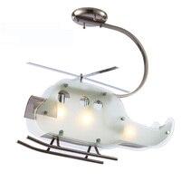 Çocuk yatak odası cam düzlem tavan işık yeni modern çocuk odası helikopter lambası tavan fikstürü lamba toptan tavan ışık