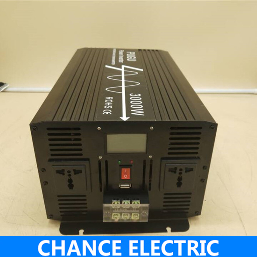 цена на 3000W/6000W Pure Sine Wave Inverter DC 12V 24V 48V to AC 110V 220V,Off Grid Inversor Portable 3000W/6000W Power Inverter