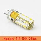 1Pcs SMD 3014 G4 2w LED Crystal lamp light DC 12V Silicone Body LED Bulb Chandelier 24LEDs