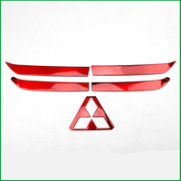 For Mitsubishi Outlander 2016 2017 2018 Stainless Steel Car Front Grille Bumper Frame Trim Racing grille Cover Sticker Trim