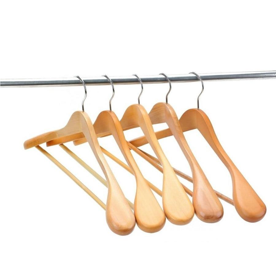 Hangerworld Extra Brede Schouder Pak Hangers, hout Kleding Hangers voor Closet Collection, natuurlijke Afwerking (5 stuks/partij)-in Hangers & Rekken van Huis & Tuin op  Groep 1
