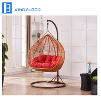best price Egg shaped Wicker Rattan Swing hanging Chair for outdoor