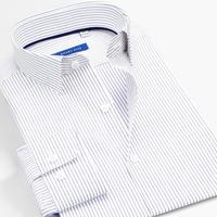 Smart five Shirts Men Summer Cotton Long Sleeve Striped Men Shirt business amisa masculina Plus Size 4XL 5XL 6XL