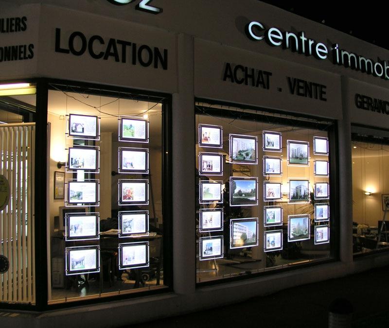 Light Shop Dublin Industrial Estate: 18PCS Acrylic Frame A3 Real Estate Agent Window Double