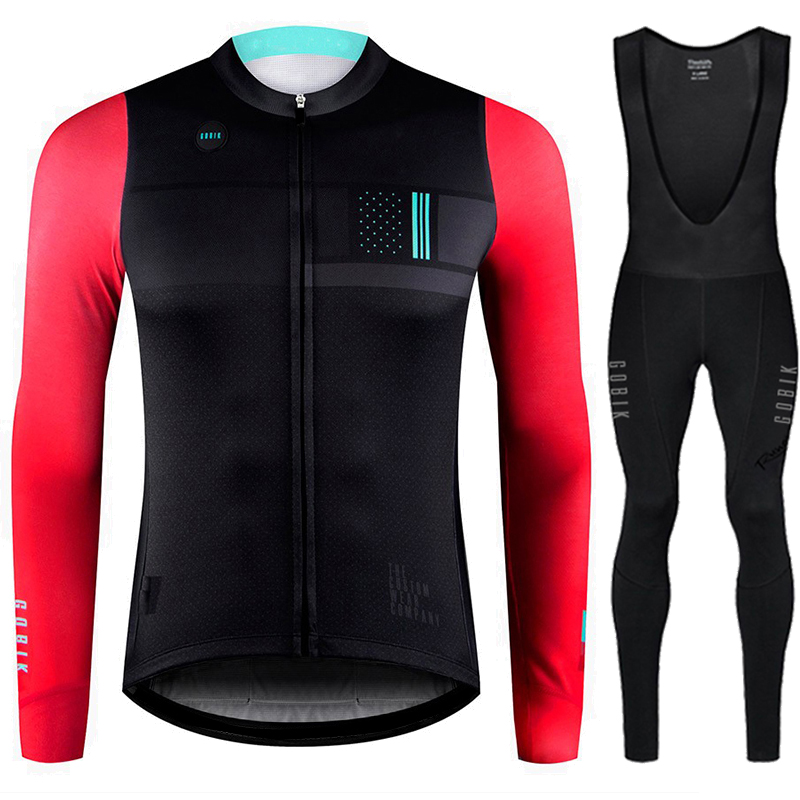 Inverno maillot ciclismo hombre Runchita winter thermal fleece cycling jersey long sleeve wielerkleding heren sets Inverno
