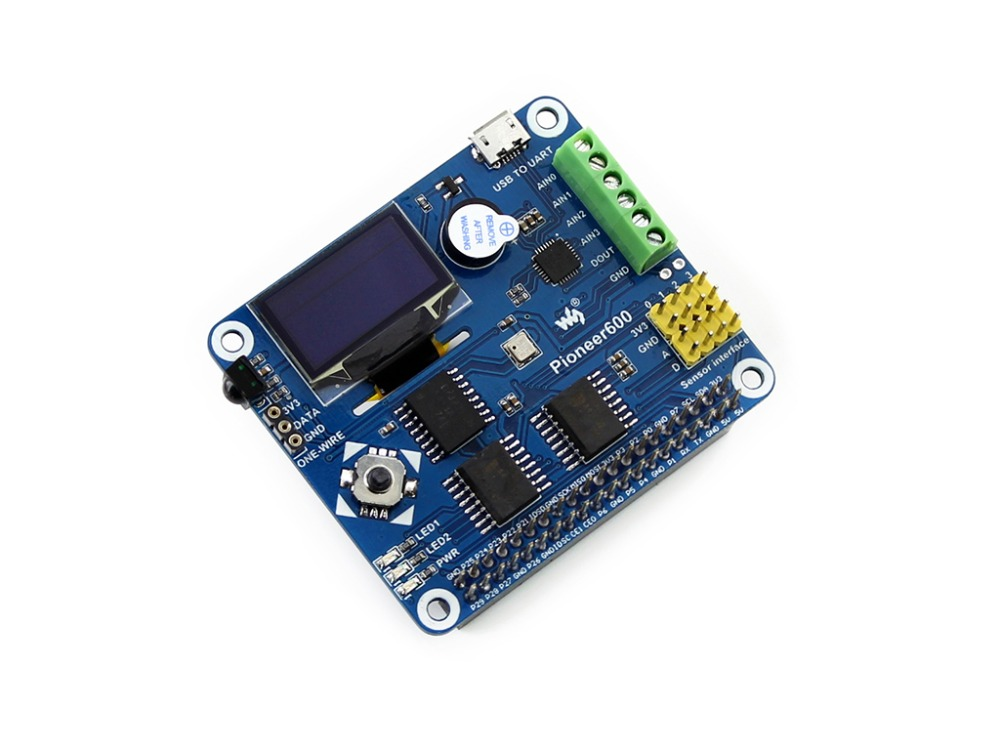 Pioneer600 Raspberry Pi Expansion Board Supports Raspberry Pi A+/B+/2B/3B with CP2102, OLED Miscellaneous Components All-in-One raspberry pi 3 digital sound card hifi digi expansion board i2s spdif module acrylic case for raspberry pi 2 for raspberry pi b