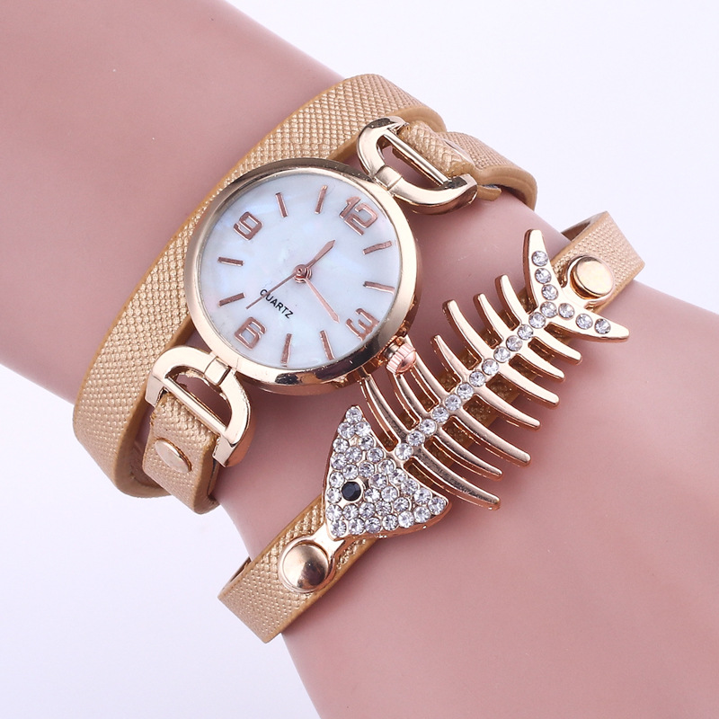 67 In Bone Straps Women Fish Leather Clock Casual 45Off Watch Us3 Ladies Women's anime Quartz Female Stylish Brand Bracelet Wristwatch eW2YIHED9