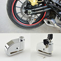 8mm Chrome Motorcycle Bicycle Bike Wheel Disc Brake Lock Alarm Security Auto-Arm 100dB