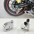 8mm Chrome Motorcycle Bicycle Bike Wheel Disc Brake Lock Alarm Security Auto-Arm 100dB