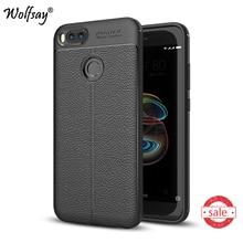 Phone Case Xiaomi Mi A1 Cover Litchi Pattern Case Soft Silicone TPU Wolfsay Case For Xiaomi Mi A1 mia1 Cover Xiaomi Mi 5X Mi5x *