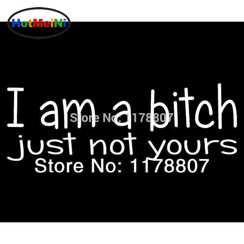 HotMeiNi 8*2.7 Wholesale NOT YOUR BITCH Car Sticker Funny Girl Sexy Car Window Car Styling Decal Black/Sliver