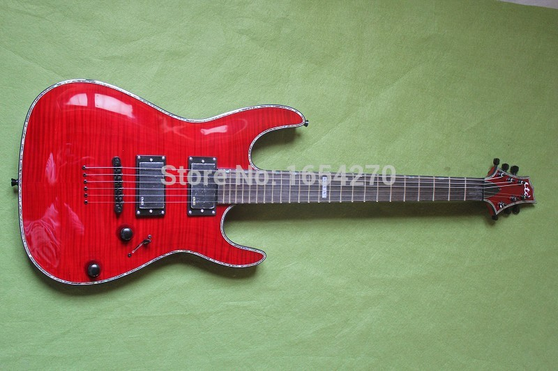 Free Shipping Brand Classic Guitar Red Penetrating Body Design ESP LTD H-351NT 24 Fret Electric Guitar Made in the Korea 150604 цены
