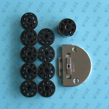 Consew 206RB,Bobbin Case #18045,10pcs.Bobbins,Needle Plate #18030,Feed Dog#18031