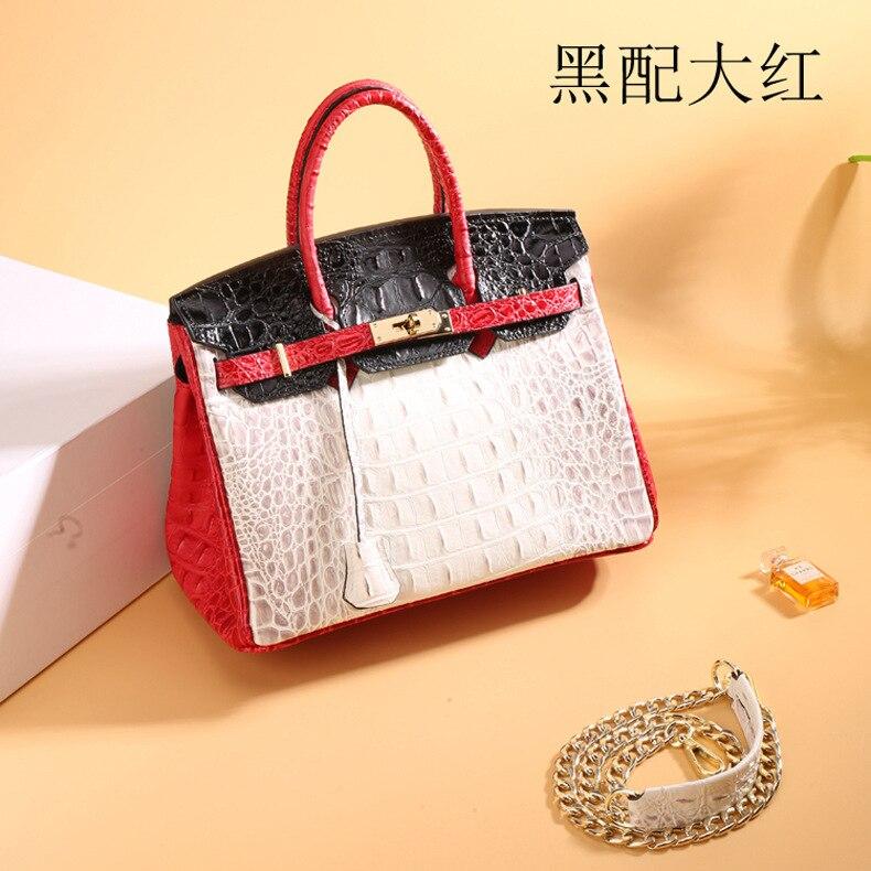 Schoudertas Dames Damen Taschen Bolsos Para Mujer en cuir véritable motif Crocodile sacs à main femmes Messenger sacs sac à bandoulière