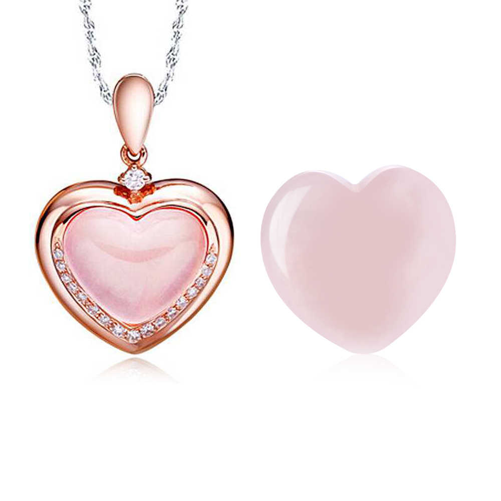Pedra preciosa de cristal em forma de coração, pedra do amor para cura, brinquedo artesanal, de quartzo rosa